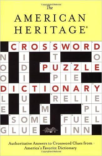 The American Heritage Crossword Puzzle Dictionary American Heritage Dictionary American Heritage Publishing Company 9780618280537 Amazon Com Books