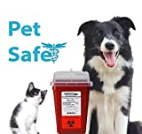 Diabetic Pet Syringe Disposal Container | 1 Quart Size (3 Pack) Design by Vets for Home Safety
