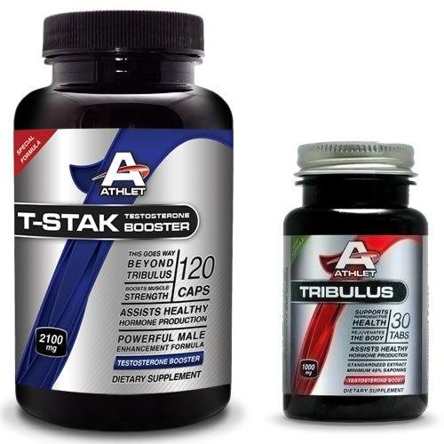 Athlet, T-STAK 120 Caps - HORMONAL BALANCE + Free TRIBULUS 30 tabs