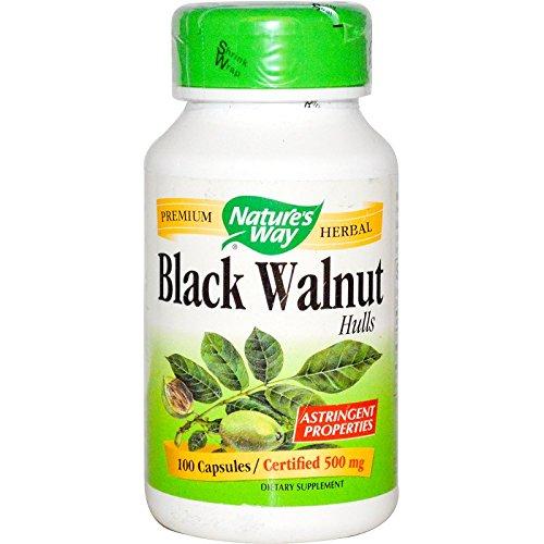 Nature's Way Black Walnut Hulls 100 Capsules (100 Mg Hull Capsules 500)