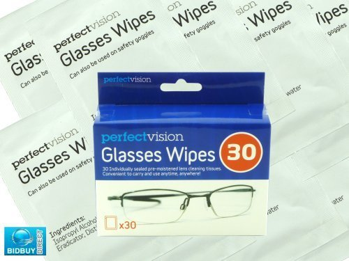 Glass Wipes / Glasses Sunglass Spectacles Cleaner / Ideal for All Types of Optical Lenses by Bid Buy Direct