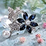 VVANT Brooches for Women with Crystal,Sliver