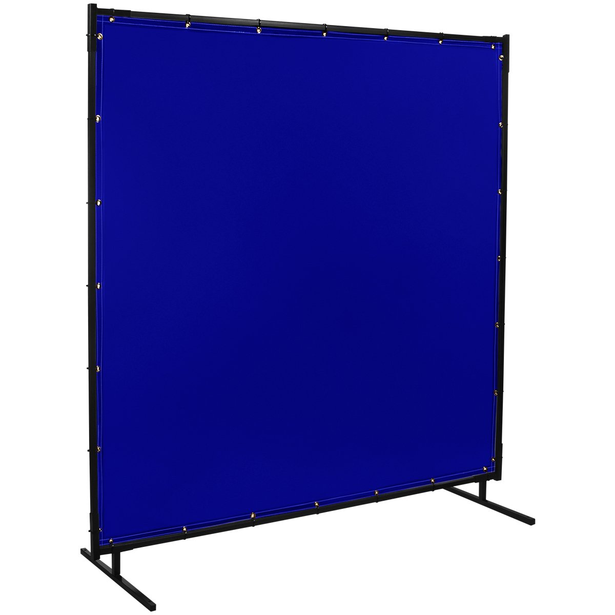 Steiner 525-6X10 Protect-O-Screen Classic Welding Screen with Flame Retardant 14 Mil Tinted Transparent Vinyl Curtain, Blue, 6' x 10' 6' x 10' ERB