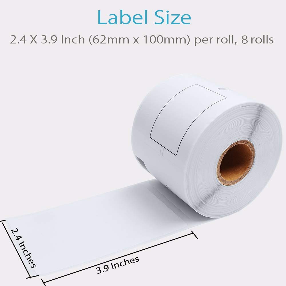 DK-1202 Labels Compatible Brother 2-3/7 x 4 Inches (62mm x 100mm) Die-Cut Shipping Label with One Refillable Cartridge for Brother QL 700 720NW 570 500 Printer and More (300 Labels Per Roll, 8 Rolls) by COLORWING (Image #3)