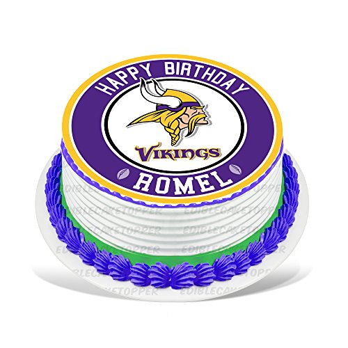 Minnesota Vikings Edible Cake Topper Personalized Birthday 8