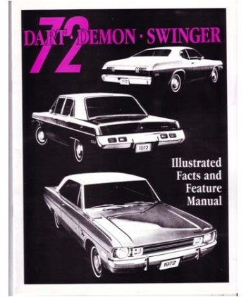 1972 DODGE DART DEMON Facts Features Sales Brochure Demon Dart