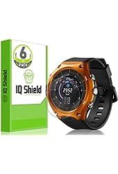 Casio Smart Outdoor Watch Screen Protector, IQ Shield® LiQuidSkin (6-Pack) Full Coverage Screen Protector for Casio Smart Outdoor Watch (WSD-F10) HD Clear Anti-Bubble Film - with Lifetime Warranty