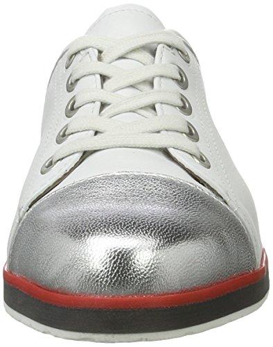 para Zapatos Lancaster Blanco Mujer Cordones Silber Ara 05 weiss de Oxford qXRnAx