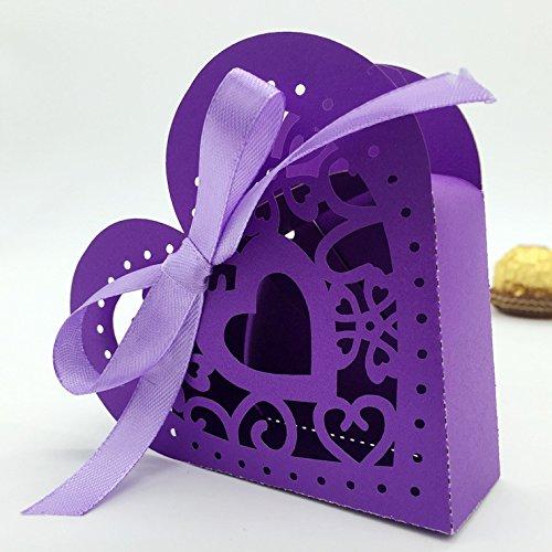 100 Pcs Laser Hollow Creative Chocolate Box Wedding