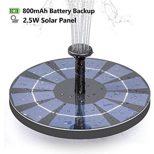 Beofine Fuente Solar Bomba, Flotante Energía Panel Jardín Solar Silicio Monocristalino Kit al Aire Libre Sumergible,para…