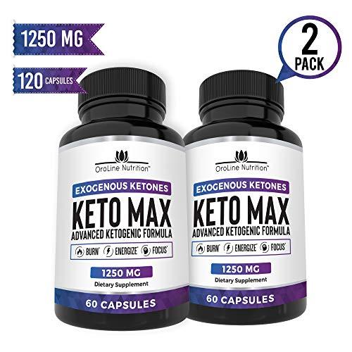 Keto Pills - (2 Pack | 120 Capsules) Advanced Keto Burn Diet Pills With MCT Oil Powder - Best Exogenous Ketones BHB Supplement