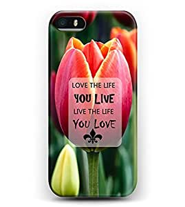 iphone 4s Case iDraw iphone 4s Hard Case -- Love The Life You Live, Live The Life You Love
