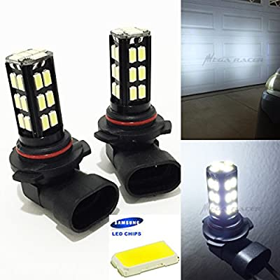 Mega Racer 9005-HB3 (High Beam Headlight) Super White 6000K Bright Chip 30-LED Xenon Lamp Light Bulb Replace Auto Car USA