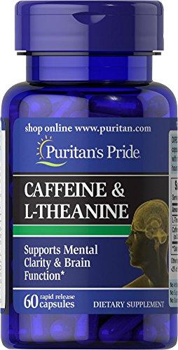 Pride caféine de Puritan's 50μg & L-théanine 100 mg-60 Capsules