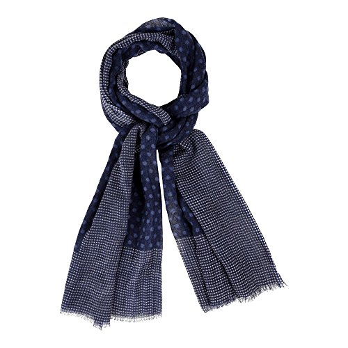 Women Scarf Wool Blue Navy...