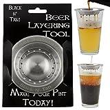 Beer Separator Black and Tan Stainless Steel Beer Layering Tool