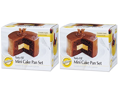 Wilton 2105-155 Mini Tasty Fill 4-Piece Pan Set (2 Pack)