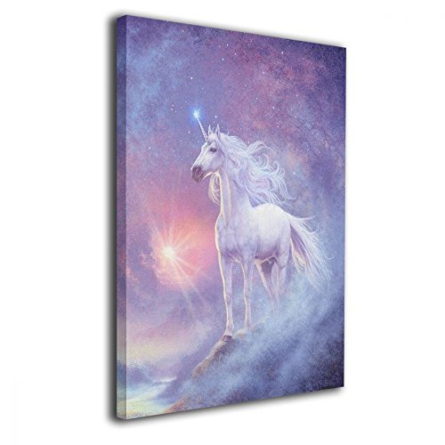 TRdY Page Unicorn Painted Canvas Inner Framed Wall Decor Modern Artwork for Office Home Decor Pictures Ready to Hang for Living Room Bathroom