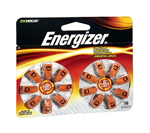 BATTERY HEAR AID 13 16PK by ENERGIZER MfrPartNo AZ13DP-16 ()