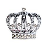 Crown Emblem Badge Cars Trunk Laptops Luggage Bicycles Sticker Rhinestones 3D Silver Body Bumper Decal Accessories Decoration