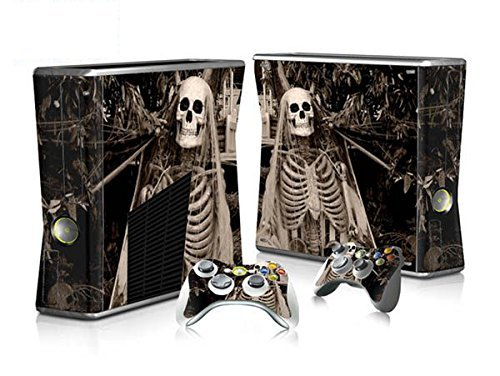 CSBC Skins Xbox 360 Slim Design Foils Faceplate Set - Skeleton Design