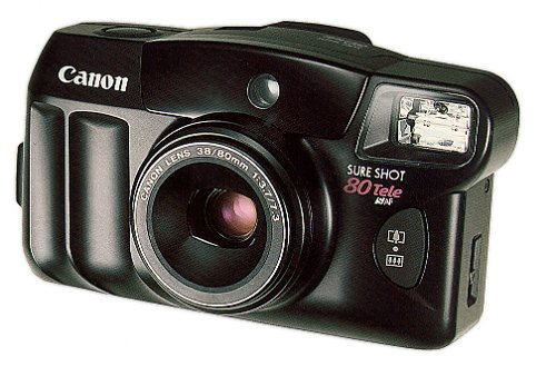 Digital Point And Shoot Film Camera - Canon Sure Shot Tele 80 35mm Camera