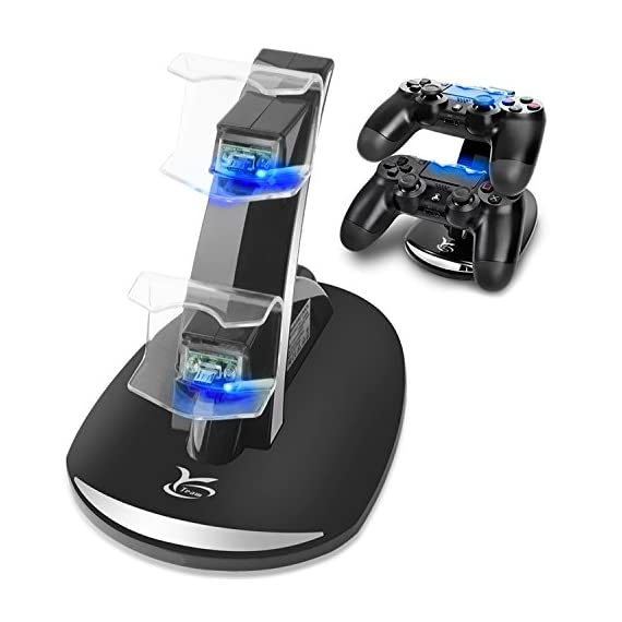 PS4 Controller Charger, Y Team Playstation 4 / PS4 / PS4 Pro / PS4 Slim Controller Charger Charging Docking Station Stand.Dual USB Fast Charging Station & LED Indicator for Sony PS4 Controller--Black - 51WHDMx6 2BgL - PS4 Controller Charger, Y Team Playstation 4 / PS4 / PS4 Pro / PS4 Slim Controller Charger Charging Docking Station Stand.Dual USB Fast Charging Station & LED Indicator for Sony PS4 Controller–Black