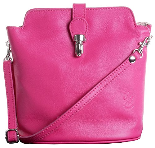 Hand or Handbag Primo Italian Sacchi Pink Bag Strap Leather Body Adjustable Shoulder Cross Made zzw6tHqU