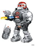 Memtes Remote Control Robot Toy, Shoots Soft Rubber Discs, Flashing Lights and Sound, Walks, Talks, and Dances