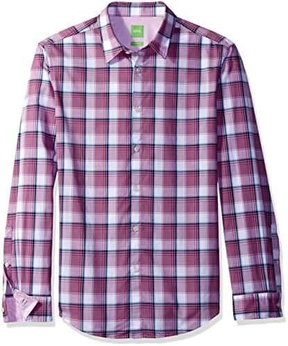 BOSS Green Men's C-Bustai Large Check Long Sleeve Shirt