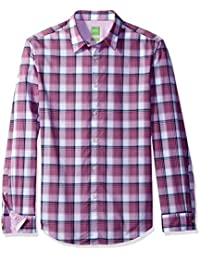 BOSS Green Men's C-Bustai Large Check Long Sleeve Shirt