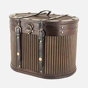 Réplica de caja para sombrero de madera con diseño vintage de estilo