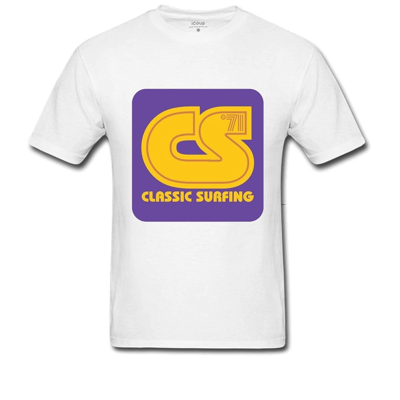 Classic Surfing Men's Printed T Shirt M White