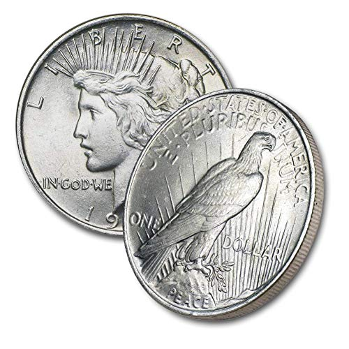 1922-1925 Peace Silver Dollar $1 Brilliant uncirculated