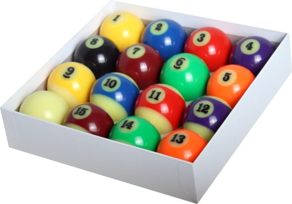 Amazon.com : Glow in the Dark Pool Balls / Billiard Balls - Full Set ...