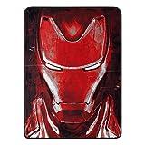 "Marvel Avengers: Endgame, ""Iron Man's Threat"" Micro Raschel Throw Blanket, 46"" x 60"", Multi Color"
