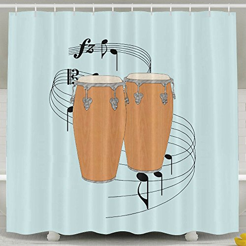 Xiaobaby Conga Drums Fashion Shower Curtain 6072Inch