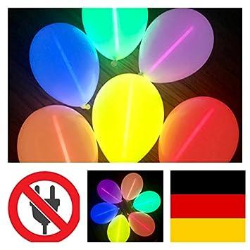 LED Party Ohrringe Blume leuchtend verschiedenen Farben Malle style