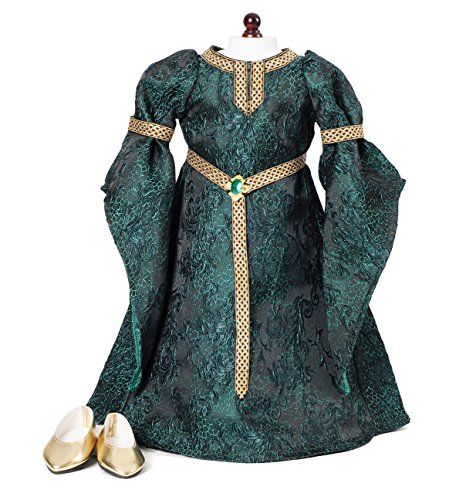 Celtic Princess Medieval Dress and Shoes Fits 18