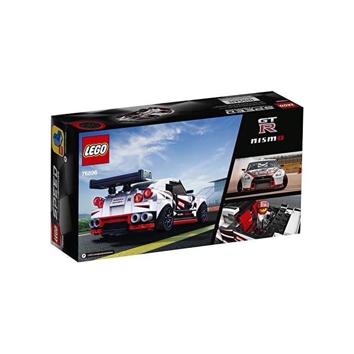 51WHEqZt4oL Una oportunidad única de poseer una réplica LEGO con detalles de gran realismo del legendario Nissan GT-R NISMO. Es el regalo perfecto para los apasionados de la construcción de juguetes, ¡y de conducirlos en veloces carreras! El Nissan GT-R NISMO en versión construible y 1 minifigura con mono de competición Nissan. Esta maqueta fascinará a niños y fans de los coches, y les abrirá las puertas tanto al juego independiente como a la posibilidad de organizar carreras con sus amigos. La miniversión del Nissan GT-R NISMO (novedad en enero de 2020) se puede construir y exponer, o usar para competir contra otros coches LEGO Speed Champions.