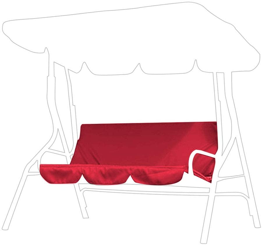 Vikye Swing Cushion, Multiple Colour Swing Waterproof Cushion Replacement 3‑Seat Chair Seat Cover for Outdoor Swing(red)