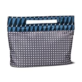 Sonia Kashuk153; Cosmetic Bag Modern Pouch Charcoal Squares CHARCOAL HEATHER