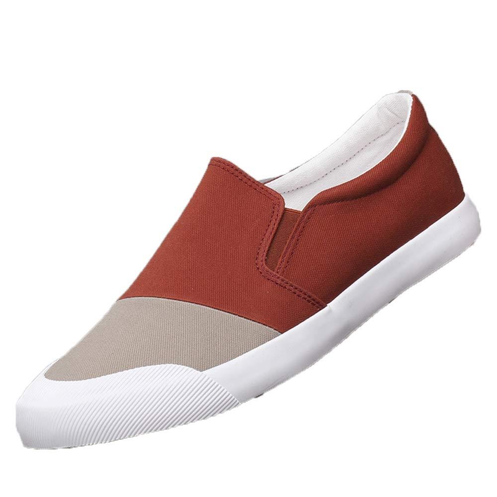 ZHRUI Herren Rutschfeste Slip on Driving Schuhe Rutschfeste Herren weiche Sohle Breathable Casual Durable Schuhes (Farbe : Grün, Größe : EU 43) Orange 70b7c8