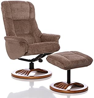 The Mandalay - Chenille Fabric Recliner Swivel Chair u0026 Matching Footstool (Mink)  sc 1 st  Amazon UK : oslo recliner chair - islam-shia.org