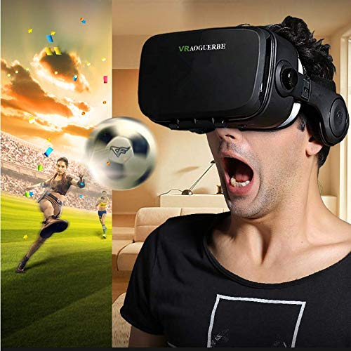 3D VR Glasses, YESSHOW VR Goggles Virtual Reality Headset Box for 3D Movies and VR Games with Remote Control Compatible with iPhone X /8/8 Plus 7/7 Plus/6S/ 6 Samsung S8/S7 and Other 4.0''-6.0'' phones by YESSHOW (Image #3)