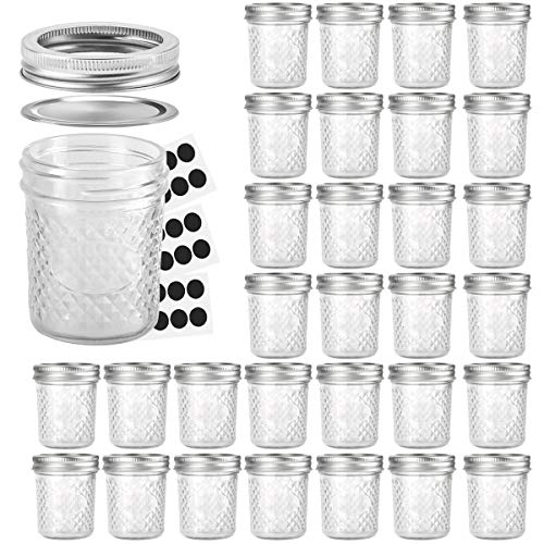 Mason Jars 6 OZ, VERONES 30 PACK 6oz Mason jars Canning Jars Jelly Jars With Lids and Bands, Ideal for Jam, Honey, Wedding Favors, Shower Favors, Baby Foods by VERONES (Image #7)