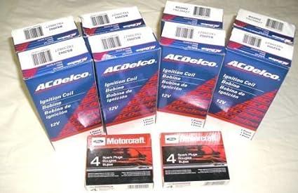 8 MOTORCRAFT PLUGS SP479 1997-2002 E250 ECONOLINE 5.4  8 AC DELCO COIL DG508