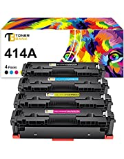 Toner Bank Compatible Toner Cartridge Replacement for HP 414A 414X W2020A W2021A W2022A W2023A for HP Laserjet M454dw M454dn MFP M479fdw M479fdn Printer Toner(Black Cyan Magenta Yellow,4-Pack)