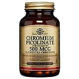 Solgar - Chromium Picolinate 500 mcg Vegetable Capsules 120 Count, Supports healthy glucose levels