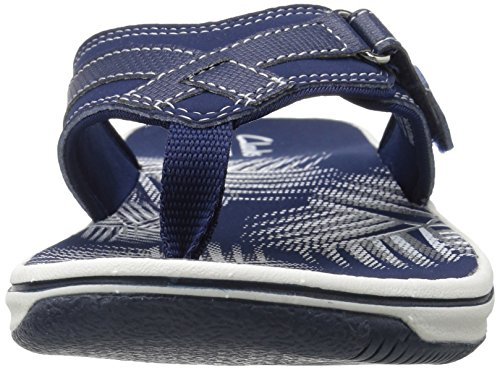 images-na Clarks Women's Breeze Sea Flip Flop, New Navy Synthetic, 8 M US